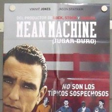 Cine: MC31 JUGAR DURO / MEAN MACHINE VINNIE JONES FUTBOL POSTER ORIGINAL 70X100 ESTRENO. Lote 18212452