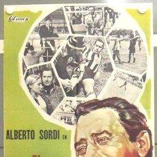 Cine: MC43 EL PRESIDENTE DEL BORGOROSO ALBERTO SORDI FUTBOL POSTER ORIGINAL ESTRENO 70X100. Lote 18274711
