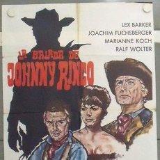 Cine: MC58 LA BALADA DE JOHNNY RINGO LEX BARKER SPAGHETTI POSTER ORIGINAL 70X100 ESTRENO. Lote 18292367