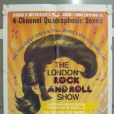 Cine: MC67 THE LONDON ROCK AND ROLL SHOW MICK JAGGER JERRY LEE LEWIS BILL HALEY POSTER ORIGINAL USA 70X105. Lote 18293730