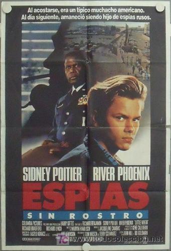 MC68 ESPIAS SIN IDENTIDAD RIVER PHOENIX SIDNEY POITIER POSTER ORIGINAL ARGENTINO 75X110 (Cine - Posters y Carteles - Suspense)
