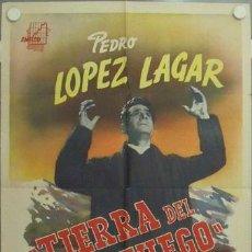 Cine: MC69 TIERRA DE FUEGO PEDRO LOPEZ LAGAR SABINA OLMOS POSTER ORIGINAL ARGENTINO 75X110. Lote 18294045