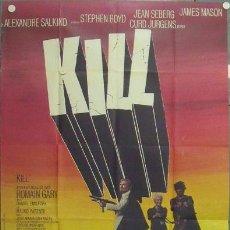 Cine: MC87 KILL MATAR JEAN SEBERG STEPHEN BOYD POSTER ORIGINAL FRANCES 120X160. Lote 18295943