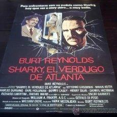 Cine: POSTER ORIGINAL INGLÉS SHARKY'S MACHINE EL VERDUGO DE ATLANTA BURT REYNOLDS VITTORIO GASSMAN 1982. Lote 18479983
