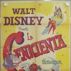 Cine: MD01 LA CENICIENTA WALT DISNEY POSTER ORIGINAL MEJICANO 68X94. Lote 18593377