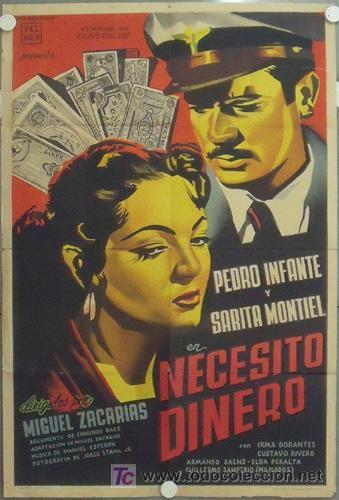 MD02 NECESITO DINERO SARA MONTIEL RENAU POSTER ORIGINAL ARGENTINO 75X110 LITOGRAFIA (Cine - Posters y Carteles - Clasico Español)