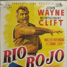 Cine: E373D RIO ROJO JOHN WAYNE MONTGOMERY CLIFT HOWARD HAWKS POSTER ORIGINAL 70X100 ESTRENO LITOGRAFIA. Lote 18607883