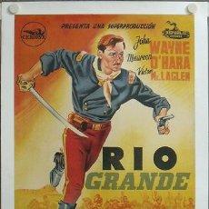 Cine: E363D RIO GRANDE JOHN WAYNE JOHN FORD POSTER ORIGINAL ESTRENO 70X100 ENTELADO LITOGRAFIA. Lote 20530862