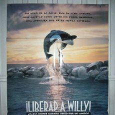 Cine: LIBERAD A WILLY POSTER ORIGINAL 70X100 Q. Lote 72163331