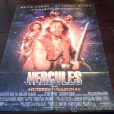 Cine: POSTER ORIGINAL HERCULES AND THE AMAZON HERCULES Y LAS AMAZONAS KEVIN SORBO ANTHONY QUINN NORTON1994. Lote 18883721