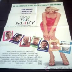 Cine: POSTER ORIGINAL THERE'S SOMETHING ABOUT MARY ALGO PASA CON MARY LOCO POR CAMERON DIAZ MATT DILLON. Lote 18883847