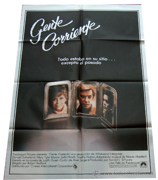 CARTEL POSTER GENTE CORRIENTE, DONALD SUTHERLAND, MARY TYLER MOORE, ORIGINAL 70 X 100 1981 (Cine- Posters y Carteles - Drama)
