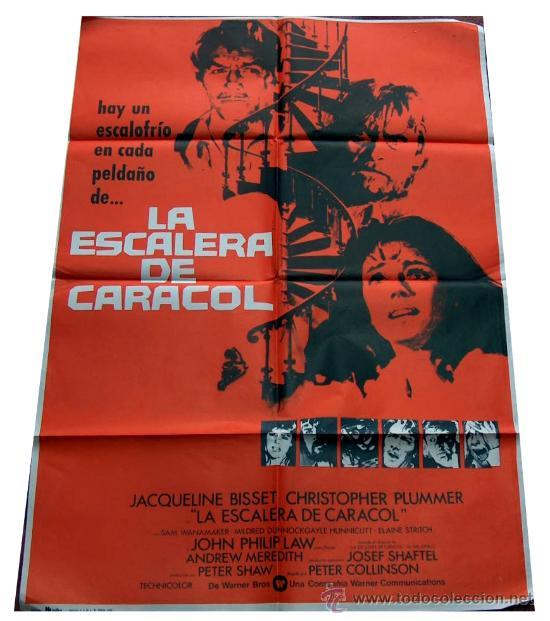 CARTEL POSTER LA ESCALERA DE CARACOL, JACQUELINE BISSET, CHRISTOPHER PLUMMER, ORIGINAL 70 X 100 1975 (Cine- Posters y Carteles - Drama)