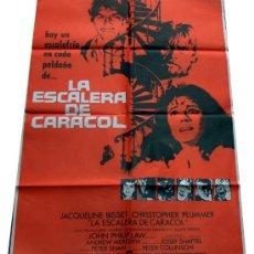 Cine: CARTEL POSTER LA ESCALERA DE CARACOL, JACQUELINE BISSET, CHRISTOPHER PLUMMER, ORIGINAL 70 X 100 1975. Lote 18890864