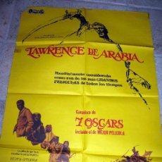 Cine: LAWRENCE DE ARABIA DAVID LEAN PETER O'TOOLE POSTER ORIGINAL 70X100. Lote 26769057