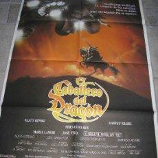Cine: POSTER ORIGINAL EL CABALLERO DEL DRAGON MIGUEL BOSE KLAUS KINSKI . Lote 27289098