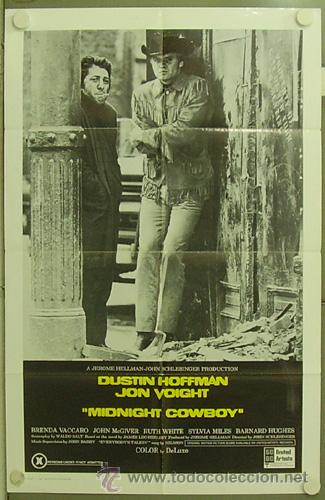 RY19D COWBOY DE MEDIANOCHE DUSTIN HOFFMAN JOHN VOIGHT POSTER ORIGINAL AMERICANO 70X105 (Cine- Posters y Carteles - Drama)
