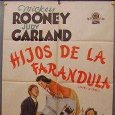 Cine: XH60D HIJOS DE LA FARANDULA JUDY GARLAND MICKEY ROONEY POSTER ORIGINAL ARGENTINO 75X110 LITOGRAFIA. Lote 18962591