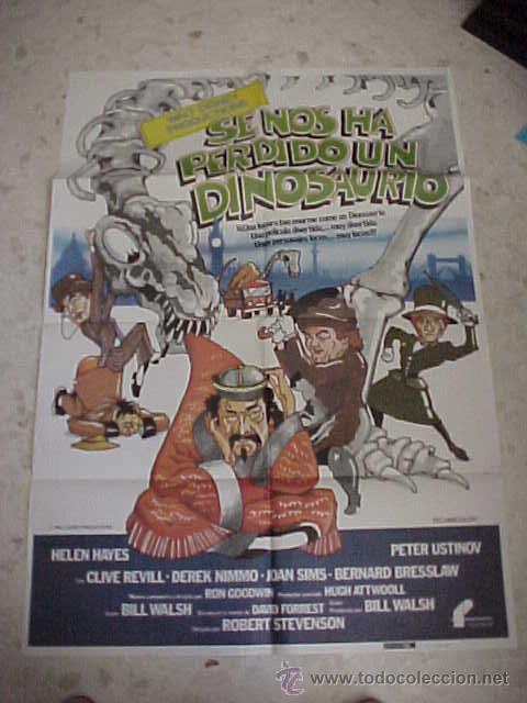 SE NOS HA PERDIDO UN DINOSAURIO. WALT DISNEY PRODUCTIONS. FILMAYER. CARTEL DE 99 X 70 CM.* (Cine - Posters y Carteles - Infantil)