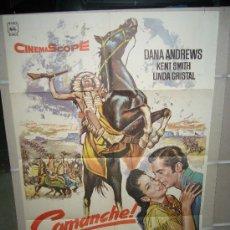 Cine: COMANCHE DUELO DE RAZAS DANA ANDREWS INDIOS MAC POSTER ORIGINAL 70X100 Q. Lote 21312519