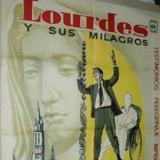 Cine: LOURDES Y SUS MILAGROS - POSTER CARTEL ORIGINAL DE CINE - GEORGES ROUQUIER MAHIER FILMS. Lote 19162402