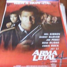 Cine: ARMA LETAL 4 - MEL GIBSON, DANNY GLOVER, JOE PESCI, RENE RUSSO, CHRIS ROCK, JET LI. Lote 25526935