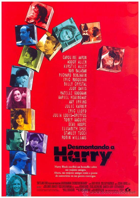 'DESMONTANDO A HARRY', DE WOODY ALLEN. (Cine - Posters y Carteles - Comedia)