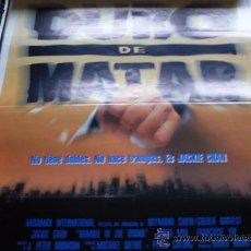 Cine: DURO DE MATAR - JACKIE CHAN, ANITA MUI, FRANÇOISE YIP, BILL TUNG, MARC AKERSTREAM, GARVIN CROSS. Lote 26237427