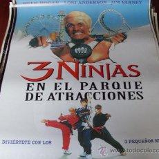 Cine: 3 NINJAS EN EL PARQUE DE ATRACCIONES - HULK HOGAN, LONI ANDERSON, JIM VARNEY, VICTOR WONG. Lote 25881104