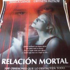 Cine: RELACION MORTAL - JESSICA LANGE, GWYNETH PALTROW, JOHNATHON SCHAECH, DEBI MAZAR. Lote 25990984