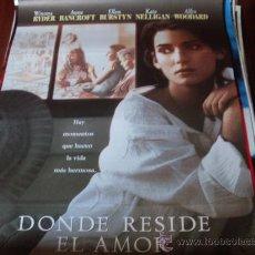 Cine: DONDE RESIDE EL AMOR - WINONA RYDER, ANNE BANCROFT, ELLEN BURSTYN, KATE NELLIGAN, ALFRE WOODARD. Lote 25990987