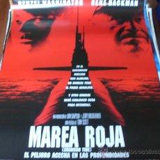 Cine: MAREA ROJA - GENE HACKMAN, DENZEL WASHINGTON, GEORGE DZUNDZA, VIGGO MORTENSEN. Lote 24326561