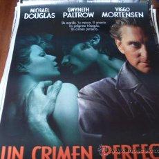 Cine: UN CRIMEN PERFECTO - MICHAEL DOUGLAS, GWYNETH PALTROW, VIGGO MORTENSEN. Lote 26141276