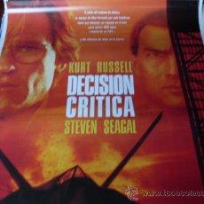 Cine: DECISION CRITICA - KURT RUSSELL, STEVEN SEAGAL, HALLE BERRY, JOHN LEGUIZAMO, OLIVER PLATT. Lote 26144681
