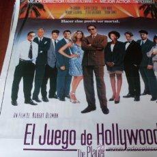 Cine: EL JUEGO DE HOLLYWOOD THE PLAYER - TIM ROBBINS, GRETA SCACCHI, WHOOPI GOLDBERG - DIR.ROBERT ALTMAN. Lote 24638363