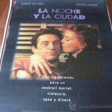 Cine: LA NOCHE Y LA CIUDAD - ROBERT DE NIRO, JESSICA LANGE, ELI WALLACH - DIR. IRWIN WINKLER. Lote 26571781