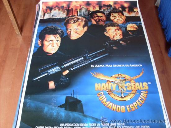 NAVY SEALS COMANDO ESPECIAL - CHARLIE SHEEN, MICHAEL BIEHN, JOANNE WHALLEY-KILMER (Cine - Posters y Carteles - Bélicas)