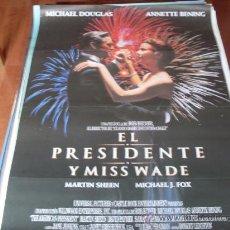 Cine: EL PRESIDENTE Y MISS WADE - MICHAEL DOUGLAS, ANNETTE BENING, RICHARD DREYFUSS, MARTIN SHEEN. Lote 25435938