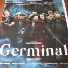 Cine: GERMINAL - GÉRARD DEPARDIEU, RENAUD, MIOU-MIOU, JEAN CARMET - DIR. CLAUDE BERRI. Lote 25990998