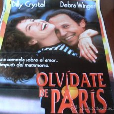 Cine: OLVIDATE DE PARIS - BILLY CRYSTAL, DEBRA WINGER, JOE MANTEGNA, JULIE KAVNER, RICHARD MASUR. Lote 26619753