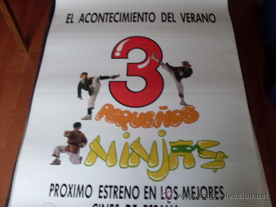 3 PEQUEÑOS NINJAS (PREVIO) - VICTOR WONG, MICHAEL TREANOR, MAX ELLIOT SLADE (Cine - Posters y Carteles - Infantil)