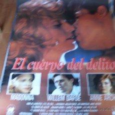 Cine: EL CUERPO DEL DELITO - MADONNA, WILLEM DAFOE, JOE MANTEGNA, ANNE ARCHER. Lote 25384944