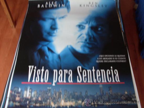 VISTO PARA SENTENCIA - ALEC BALDWIN, BEN KINGSLEY, AMY IRVING, JAY O. SANDERS (Cine - Posters y Carteles - Suspense)