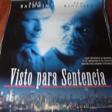 Cine: VISTO PARA SENTENCIA - ALEC BALDWIN, BEN KINGSLEY, AMY IRVING, JAY O. SANDERS. Lote 25416498