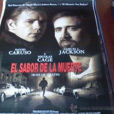 Cine: EL SABOR DE LA MUERTE - NICOLAS CAGE, DAVID CARUSO, SAMUEL L. JACKSON, MICHAEL RAPAPORT. Lote 25268076