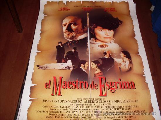 EL MAESTRO DE ESGRIMA - ASSUMPTA SERNA, OMERO ANTONUTTI - DIR. PEDRO OLEA (Cine - Posters y Carteles - Clasico Español)