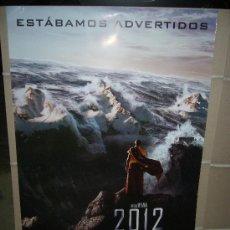 Cine: 2012 ROLAND EMMERICH POSTER ORIGINAL 70X100. Lote 167137378