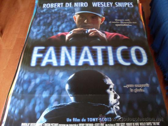 FANATICO - ROBERT DE NIRO, WESLEY SNIPES, BENICIO DEL TORO - DIR. TONY SCOTT (BEISBOL) (Cine - Posters y Carteles - Suspense)