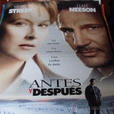 Cine: ANTES Y DESPUES - MERYL STREEP, LIAM NEESON, EDWARD FURLONG - DIR. BARBET SCHROEDER. Lote 25856222