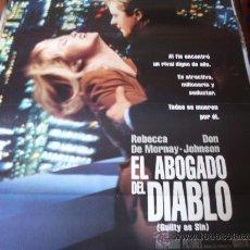 Cine: EL ABOGADO DEL DIABLO - REBECCA DE MORNAY, DON JOHNSON, JACK WARDEN - DIR.SIDNEY LUMET. Lote 25384877